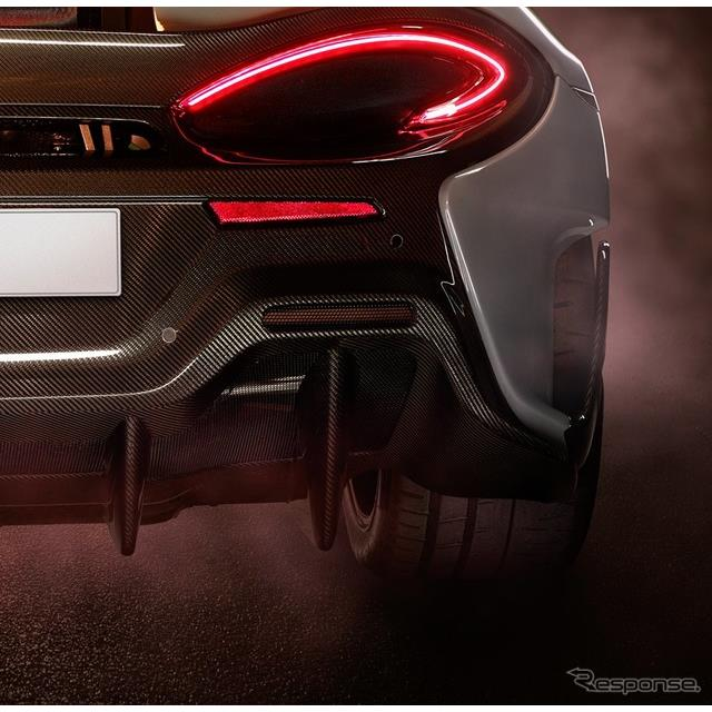 マクラーレンの新型車のティザーイメージ