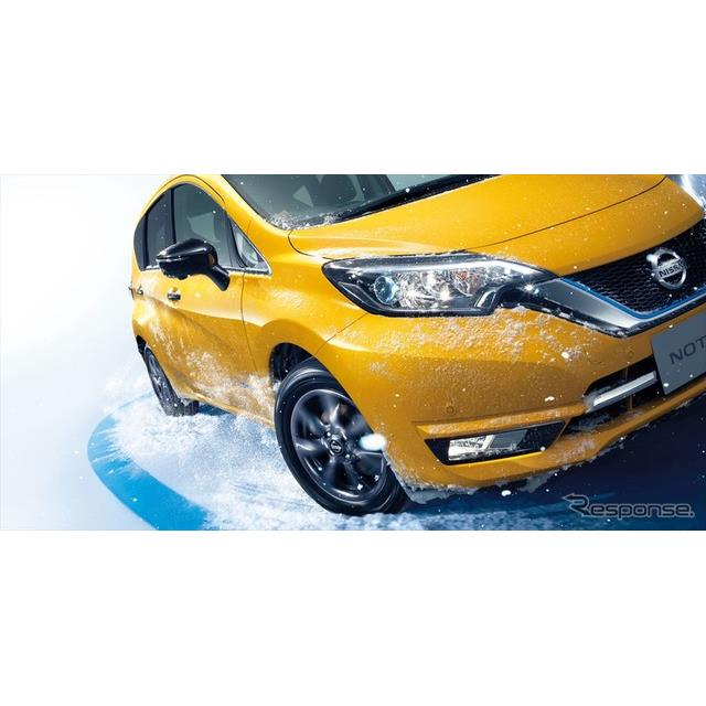 日産自動車は、『ノート e-POWER』に4WD車(モーターアシスト方式)を追加するとともに、『ノート』の仕様...