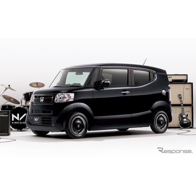 ホンダは、軽乗用車『N-BOX スラッシュ』に、ブラック基調の特別仕様車「インディロックスタイル」を設定し...