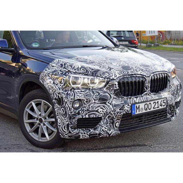 BMWのエントリー・クロスオーバーSUV『X1』改良新型プロトタイプを、初めてカメラが捉えた。現行の第2世代...