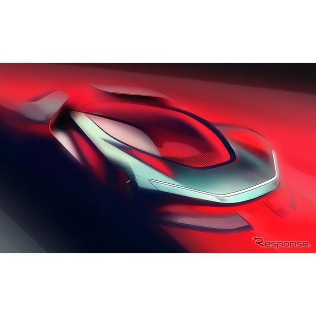 ピニンファリーナのEVハイパーカー『PF0』のティザースケッチ