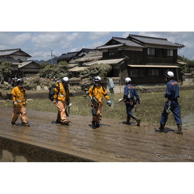 平成30年7月豪雨(7月10日、岡山県、倉敷市) (c) Getty Images