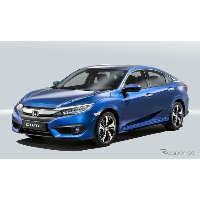 ホンダの欧州部門は7月19日、新型『シビックセダン』(Honda Civic)の欧州仕様に設定する新開発の1.0リッ...