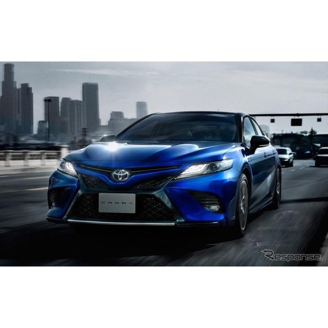 トヨタ自動車は、FFセダン『カムリ』を一部改良するとともに、新グレード「WS」を設定し、8月1日より販売を...