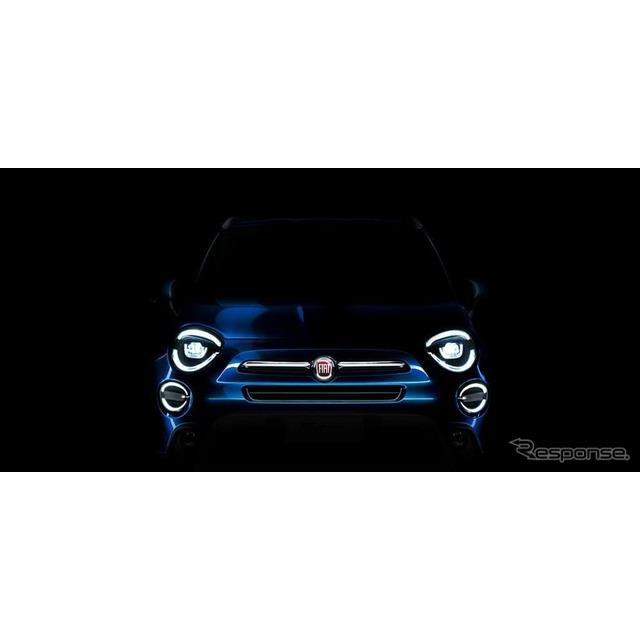 フィアットは8月6日、改良新型フィアット『500X』(Fiat 500X)のティザーイメージを公開した。  フィア...