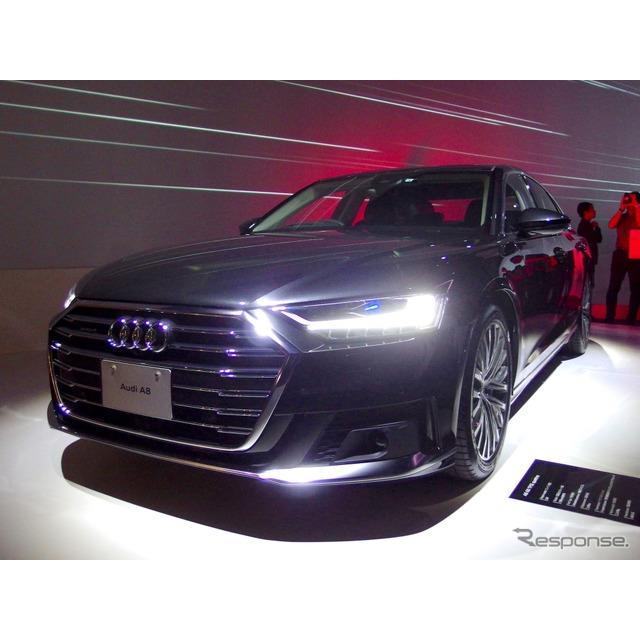 アウディジャパンは、フラッグシップセダン『A8』(Audi A8)を8年ぶりにフルモデルチェンジし、10月15日よ...