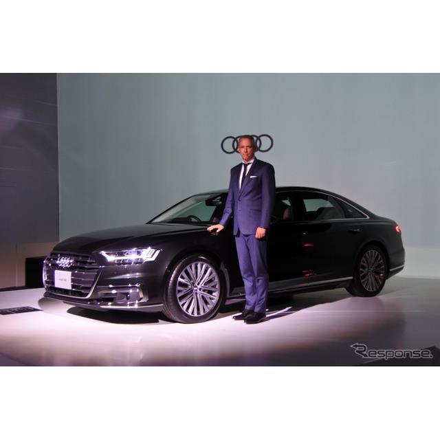 アウディジャパンは、8年ぶりに全面改良したフラッグシップモデル『A8』(Audi A8)について、10月15日から...