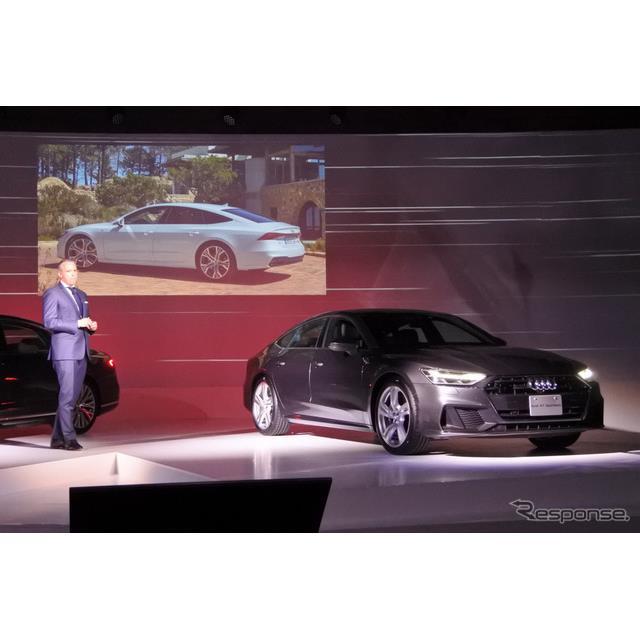 アウディジャパンは全面改良した4ドアクーペ『A7スポーツバック』(Audi A7 Sportback)を9月6日から販売を...