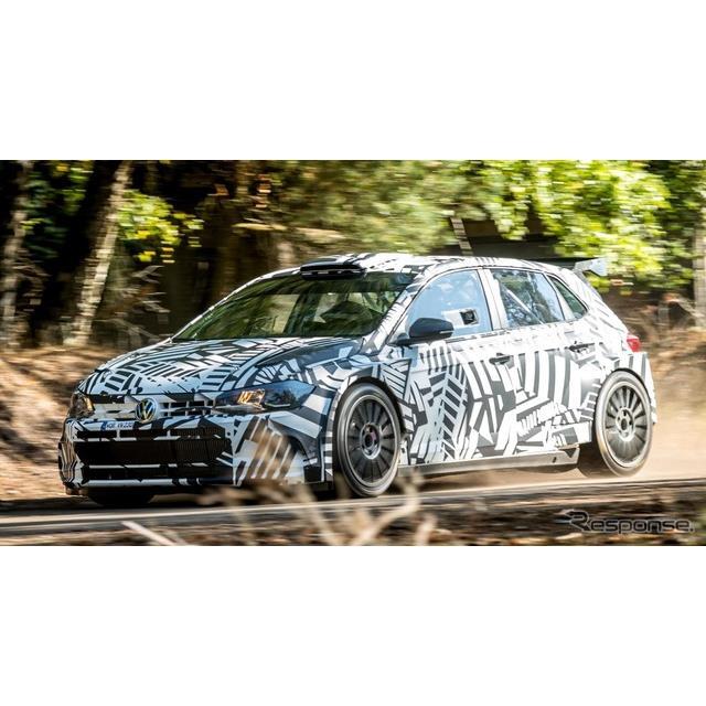 フォルクスワーゲンは9月5日、新型『ポロGTI』ベースのラリーマシン、『ポロGTI R5』(Volkswagen Polo GTI...