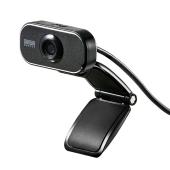 サンワ、フルHD映像を撮影できる200万画素WEBカメラ「CMS-V41BK」