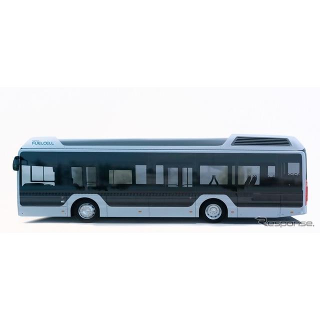 トヨタが燃料電池システムを供給するバスのイメージ