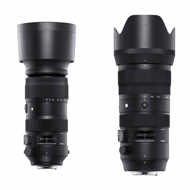 「60-600mm F4.5-6.3 DG OS HSM | Sports」「70-200mm F2.8 DG OS HSM | Sports」