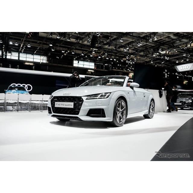 ◆立体的なシングルフレームグリル  アウディはフランスで開幕したパリモーターショー2018において、『TT...