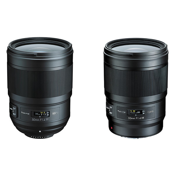 左より「opera 50mm F1.4 FF ニコンF」、「opera 50mm F1.4 FF キヤノンEF」