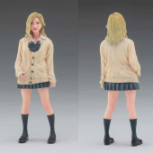 カーディガン姿の女子高生を3Dで再現、1/12スケールのレジンキット発売