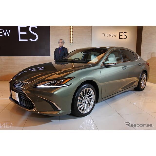 トヨタ自動車は10月24日、レクサスブランドの新型車『ES』を発売した。ESは今回の全面改良で7代目となるが...