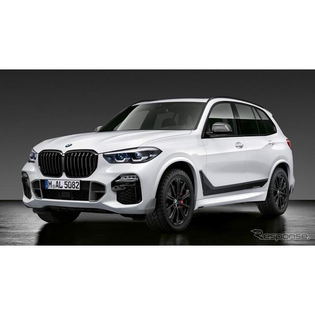 BMWは10月25日、新型『X5』(BMW X5)に「Mパフォーマンスパーツ」を設定すると発表した。  Mパフォーマ...
