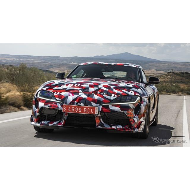 トヨタ自動車の欧州部門は10月30日、新型『スープラ』(Toyota Supra)の市販モデルを2019年1月、米国で開...