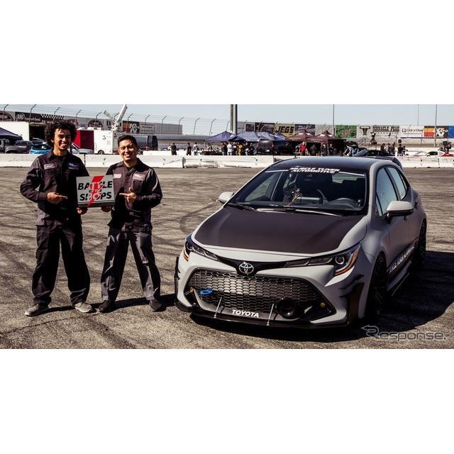 トヨタ自動車の米国部門は10月30日、米国ラスベガスで開幕したSEMAショー2018において、新型『カローラ ハ...