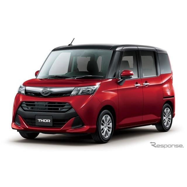 ダイハツは、小型乗用車『トール』を一部改良し、11月1日より販売を開始した。  今回の一部改良では、車...