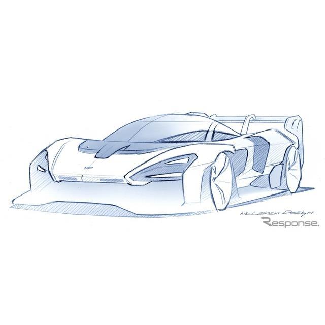 マクラーレン・セナ GTR のデザインスケッチ