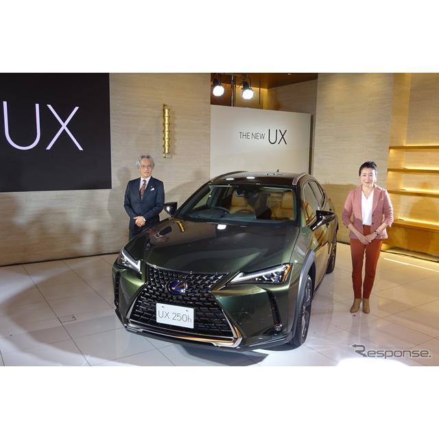 トヨタ自動車は11月27日、レクサスの新型SUV『UX』を同日発売すると発表した。レクサスでは『LX』、『RX』...