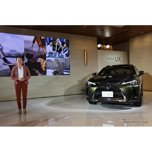 トヨタ自動車は11月27日、レクサスブランドの新型SUV『UX』を発売した。チーフエンジニアを務める加古慈氏...