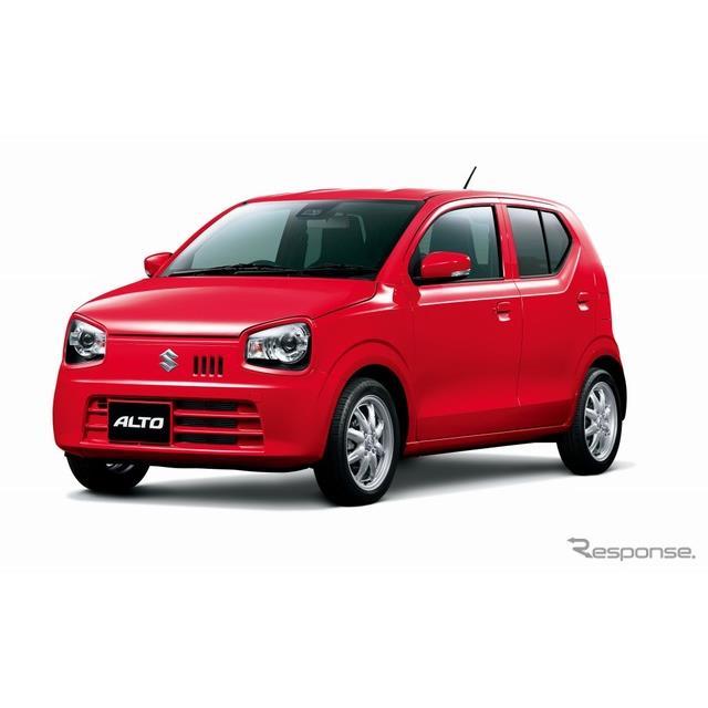 スズキは、軽乗用車『アルト』および『アルト ワークス』の安全装備を充実させ、12月13日より販売を開始し...