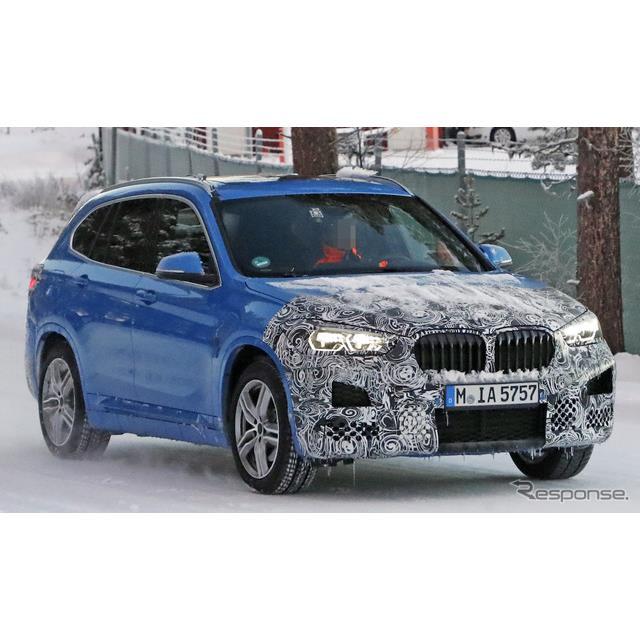 BMWのコンパクト・クロスオーバーSUV『X1』改良新型プロトタイプを、厳冬のノルウェーでカメラが捉えた。摂...