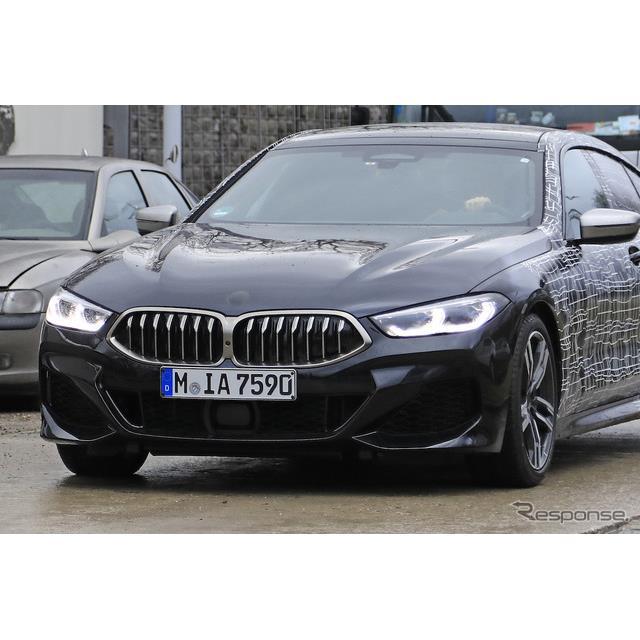 BMWが3月に公開した最上級4ドアクーペ、『8シリーズ グランクーペ』に設定されるハードコアモデル、『M850i...