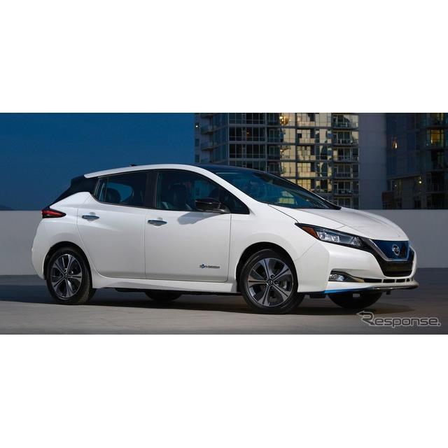 日産自動車(Nissan)の米国部門は1月8日、米国ラスベガスで開幕したCES 2019において、『リーフe+』を初公...