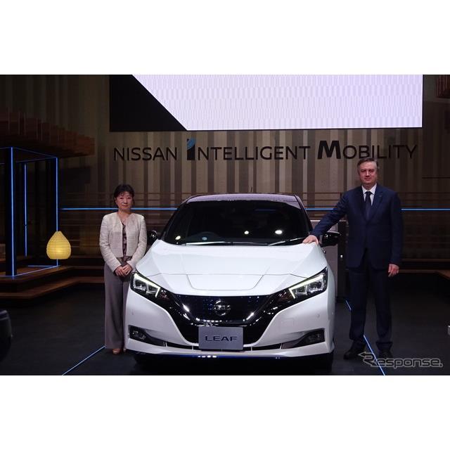 日産自動車は1月9日、電気自動車(EV)『リーフ』のバッテリー容量やモーター出力などを増強したハイパフォ...