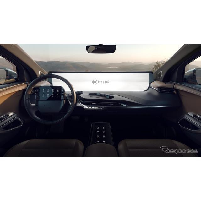 バイトンの量産車向けとしては世界最大の車載ディスプレイ