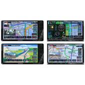 左上から、MDV-D706BTW、MDV-D706BT、MDV-D406BTW、MDV-D406BT