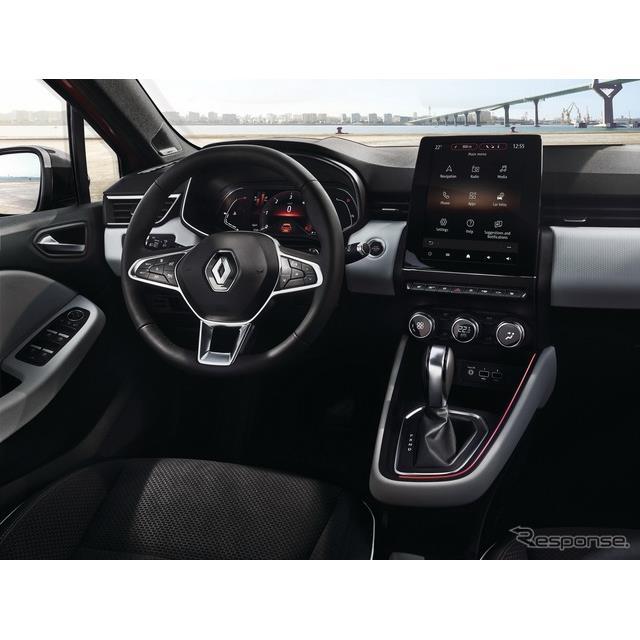 ルノー(Renault)は1月28日、新型『クリオ』(日本名:『ルーテシア』に相当)のインテリアを先行公開した...