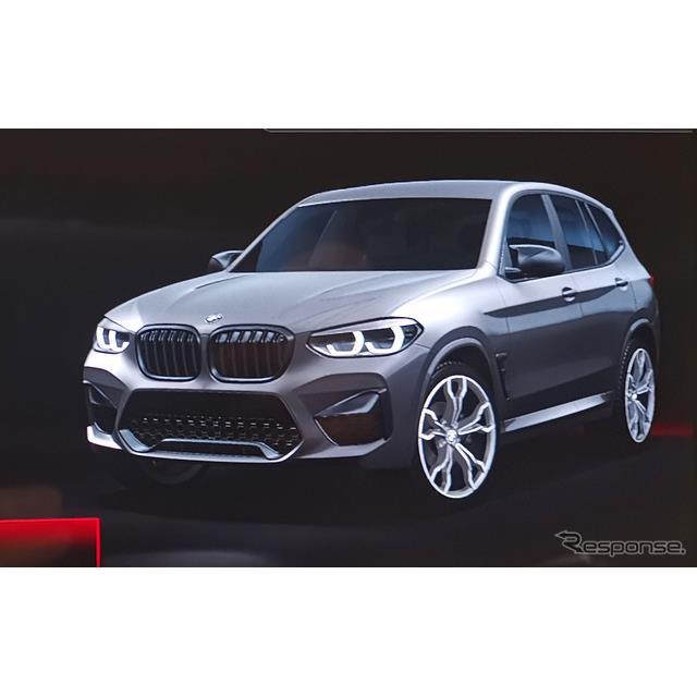 iDriveディスプレイに映された「BMW X3M 」の姿