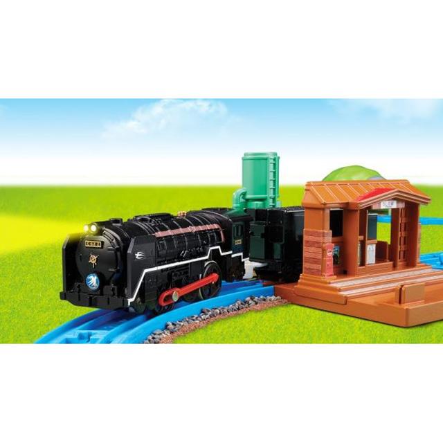 「レールでアクション!なるぞ!ひかるぞ!C62蒸気機関車セット」