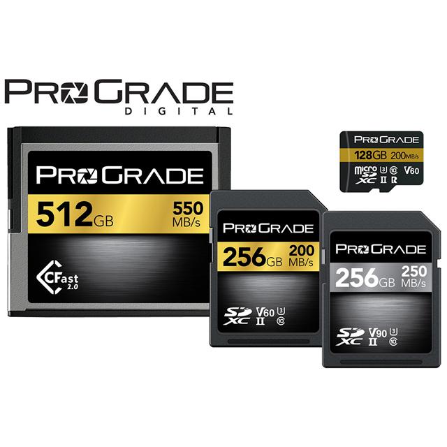 プログレードデジタル CFast 2.0、プログレードデジタル SDXC UHS-II V60、プログレードデジタル SDXC UHS-II V90、プログレードデジタル microSDHC/SDXC UHS-II V60