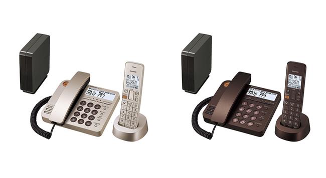デジタルコードレス電話機 左:JD-XG1CL-N(ゴールド系)、右:JD-XG1CL-T(ブラウン系) ※画面はハメコミ合成です。実際の表示とは異なります。