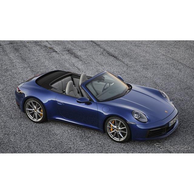 ポルシェジャパンは2月12日、昨年のロサンゼルスモーターショーで初公開した新型『911カレラSカブリオレ』...