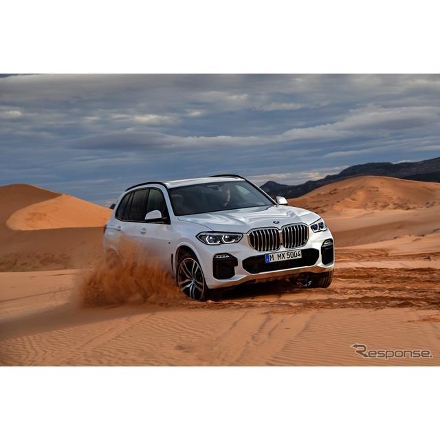 ビー・エム・ダブリュー(BMWジャパン)は、5年ぶりにフルモデルチェンジした新型BMW『X5』を日本市場に導...