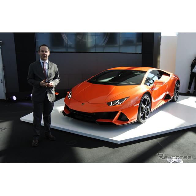 ランボルギーニは3月8日、主力車種『ウラカン』の大幅改良モデルとなる「ウラカンEVO」を都内で日本初公開...