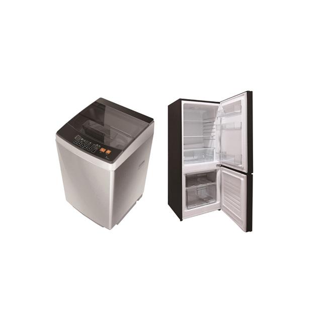 「全自動電気洗濯機」「170L直冷式冷蔵庫」