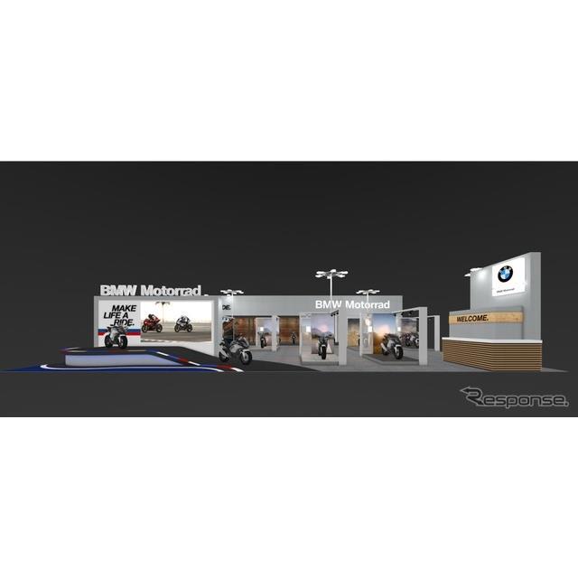 BMWモトラッドの大阪および東京モーターサイクルショー2019のブースイメージ