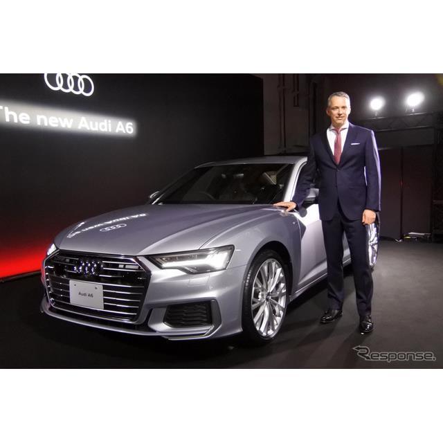 アウディジャパンは全面改良した『A6』を3月20日から販売を開始すると発表した。新たに48Vマイルドハイブリ...