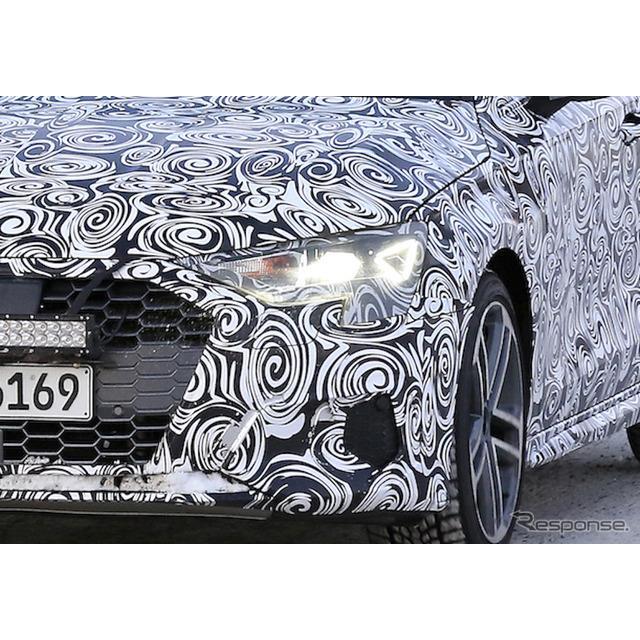 アウディ『A3』新型、および高性能モデル『S3』次期型の姿を、豪雪のフィンランド山中でダブルスクープに成...