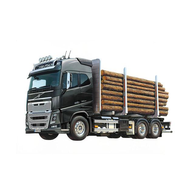 1/14RC ボルボFH16グローブトロッター750 6x4ティンバートラック ※積載用木材はセットに含まれていません。