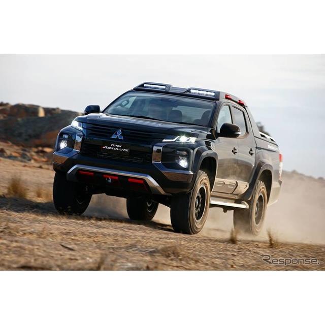 三菱自動車の豪州部門は3月26日、『トライトン』/『L200』のコンセプトモデル、『トライトン・アブソルート...