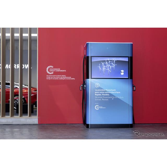 フォルクスワーゲングループの移動式の急速充電ステーション「パワーバンク」(ジュネーブモーターショー2019)