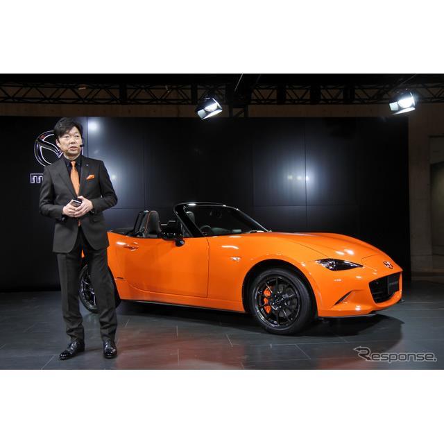 マツダは4月5日に幕張メッセで開幕したオートモビルカウンシル2019で『ロードスター30周年記念車』を日本初...